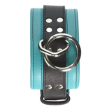Leather Ankle Cuffs - Turquoise