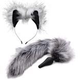 Tailz Plug & Ear Set Grey Wolf (Set)