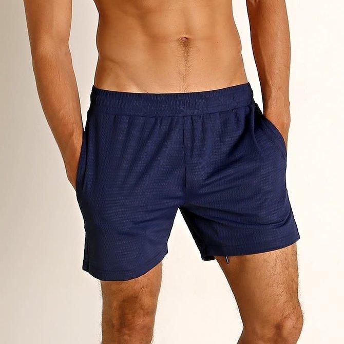 "STEELE 6"" Stretch Mesh Performance Shorts - Printed - Atlantic Blue"
