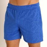 "STEELE 6"" Stretch Mesh Performance Shorts - Printed - Cobalt Blue"