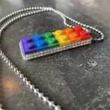 Alan Leingang Pendant - Rainbow - AB Rhinestone