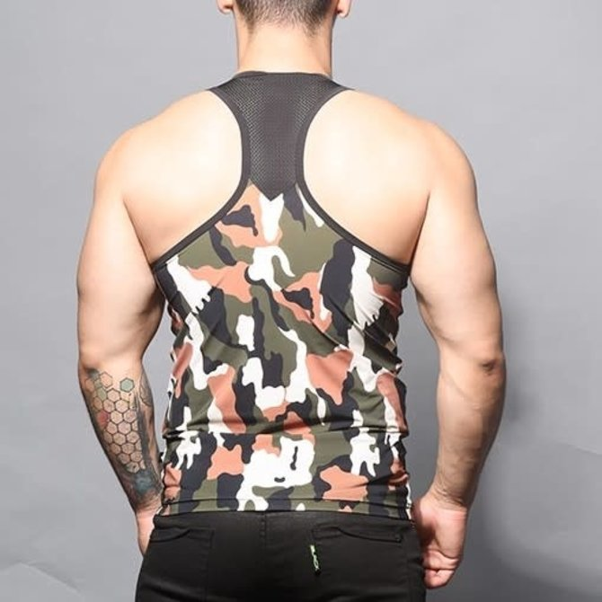 Andrew Christian Camouflage Mesh Tank