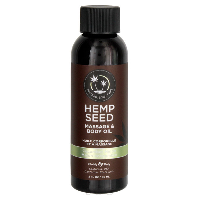 Earthly Body Hemp Seed Massage Oil - Cucumber Melon