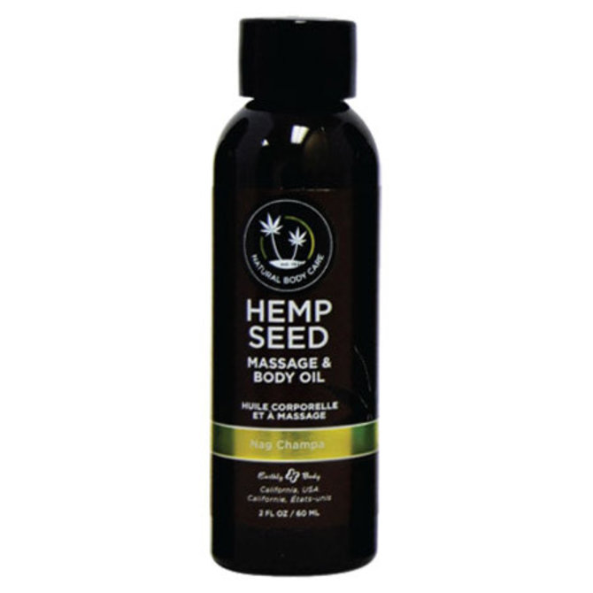 Earthly Body Hemp Seed Massage Oil - Nag Champa