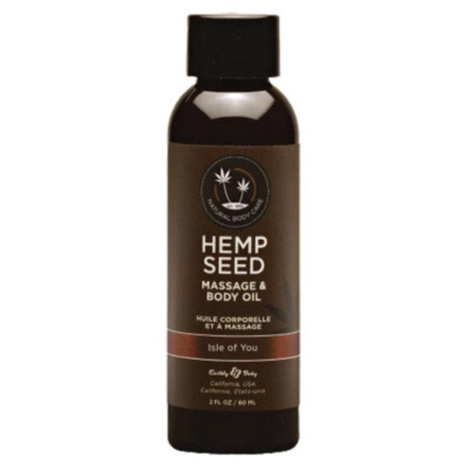 Earthly Body Hemp Seed Massage Oil - Isle Of You