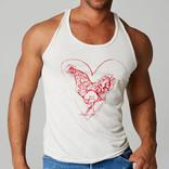Silber Fuchs NYC Heart Cock Tank