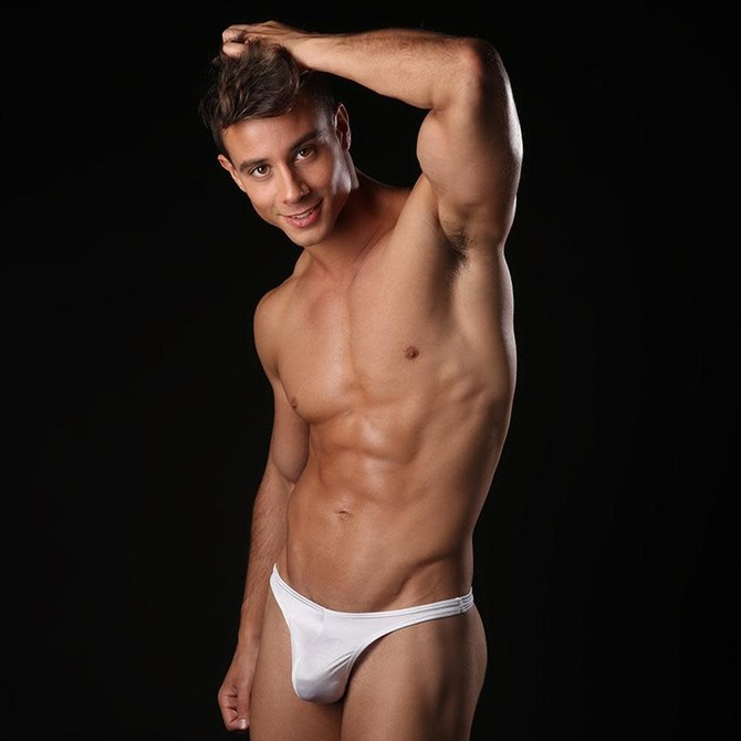 Cover Male Underwear/Swim Thong White