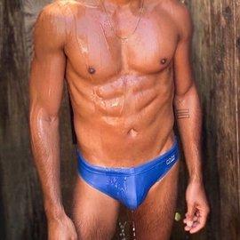 Chris Turk Solid Blue - Chris Turk Swim Brief