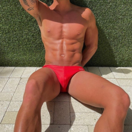 Chris Turk Solid Red - Chris Turk Swim Brief