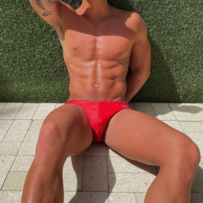 Chris Turk Solid Red - Chris Turk Swim Brief