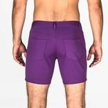 "STEELE 5"" Knit Shorts - Grape"