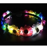 Light-up Rainbow Flower Halo