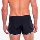 Go Softwear/American Jock Dolphin Swim Short - Black/White