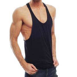 Go Softwear/American Jock Overdye Muscle Tank - Black