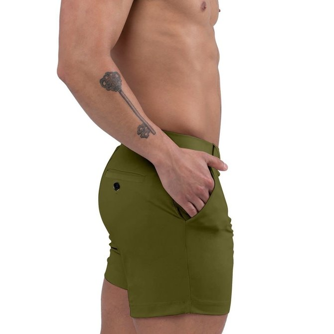 Jimaye Sustainable Vers Swim Shorts - Moss