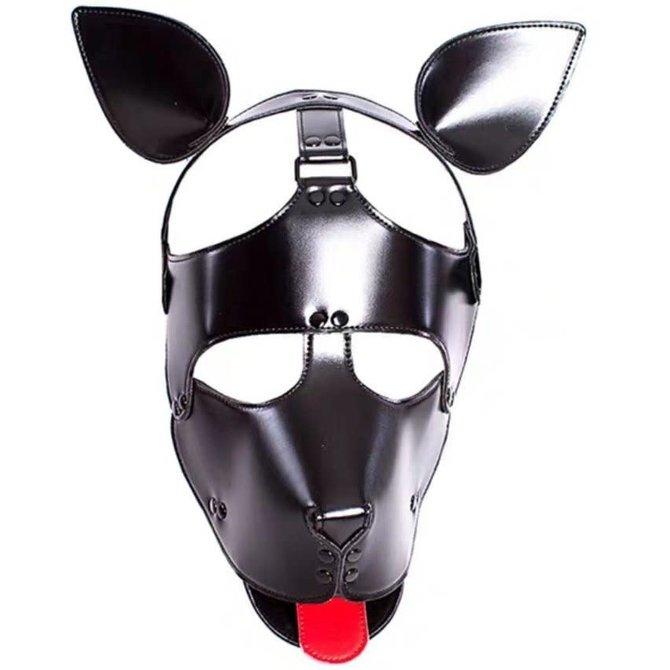 Knobs Puppy Tongue Mask  - Black Vinyl