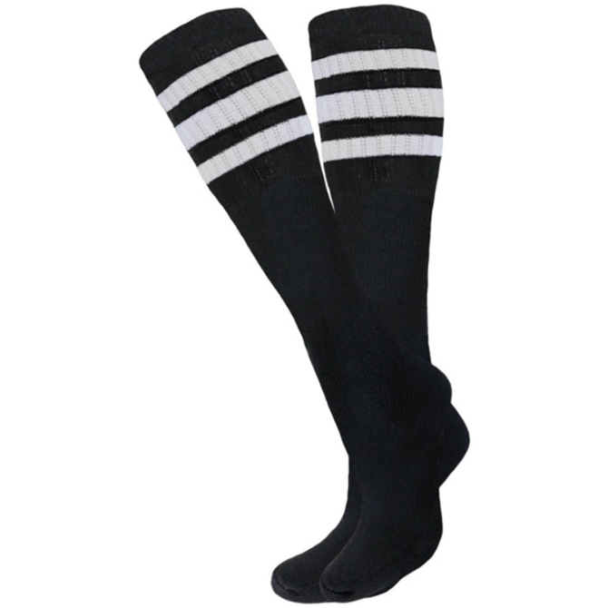 Knobs Tube Socks - Black/White