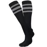 Knobs Tube Socks - Black/Grey