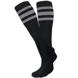 Knobs Tube Socks - Black/Grey