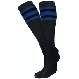 Knobs Tube Socks - Black/Royal