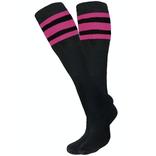 Knobs Tube Socks - Black/Pink