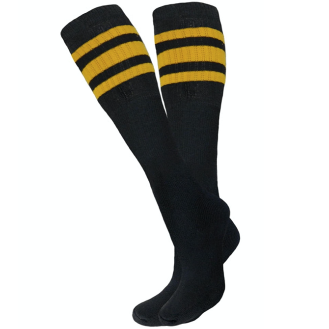 Knobs Tube Socks - Black - Yellow