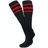 Knobs Tube Socks - Black/Red