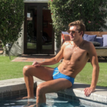 Chris Turk Relaxed Fit Teal Swim Brief - Chris Turk