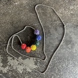 Alan Leingang Rainbow Disco Ball Necklace