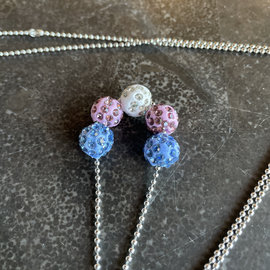 Alan Leingang Trans Disco Ball Necklace