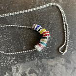 Alan Leingang Progress Rainbow Necklace - Rondelle Beads