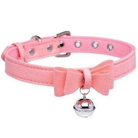 Sugar Kitty Cat Bell Collar (Pink/Silver)
