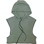 Knobs Hooded Crop Top - Heather Sage