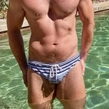 Chris Turk Relaxed Fit Swim Brief - Sailor Stripe