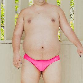 Chris Turk Swim Briefs - Solid Hot Pink