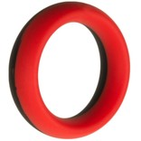 "Man Magnet Silicone C-Ring 1.75"" - Red/Black"