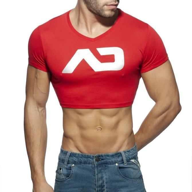 Addicted/ES AD Crop Top - Red