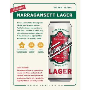 Narragansett Lager 6/16