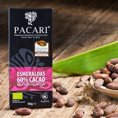 Pacari Esmarelda's 60% Cacao 50g Chocolate Bar