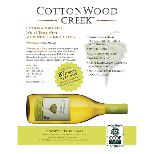 Cottonwood Creek White Organic