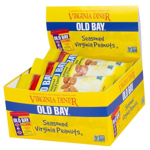 VA Diner Old Bay Peanut Snack Bag 2oz