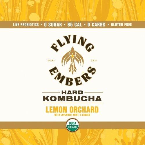 Flying Embers Hard Kombucha Lemon Orchard 16oz