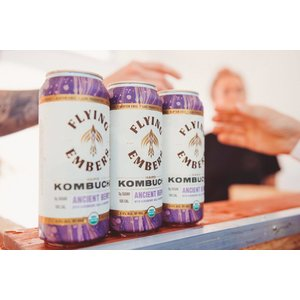 Flying Embers Hard Kombucha Ancient Berry 16oz