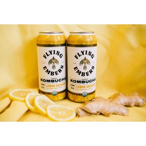 Flying Embers Hard Kombucha Lemon Orchard 16oz