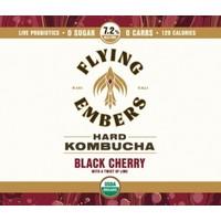 Flying Embers Hard Kombucha Black Cherry w/ Lime 16oz