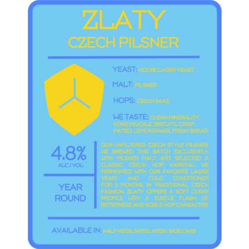 Diamondback Brewing Zlaty Pilsner 4/16