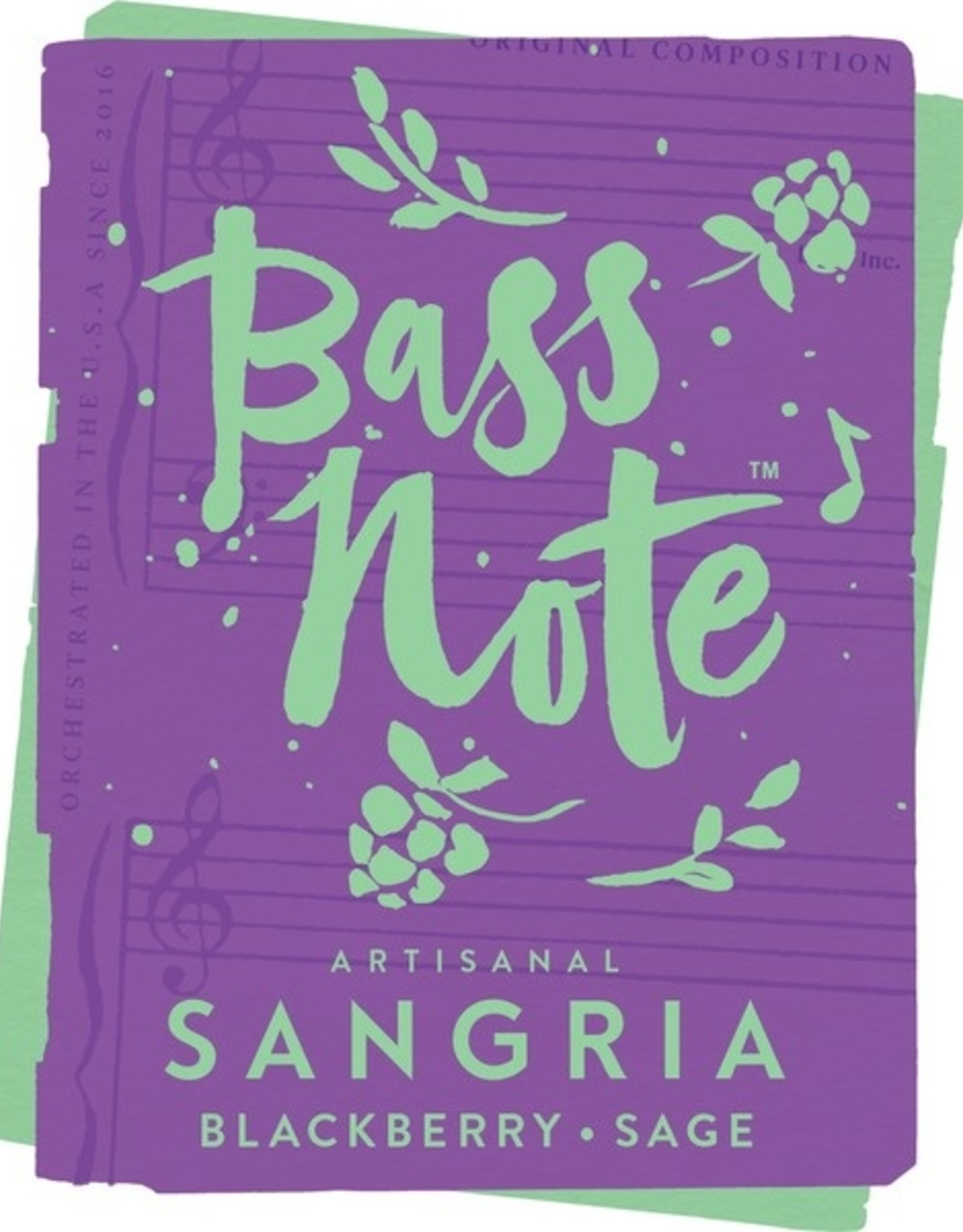 Bass Note Artisanal Sangria Blackberry Sage