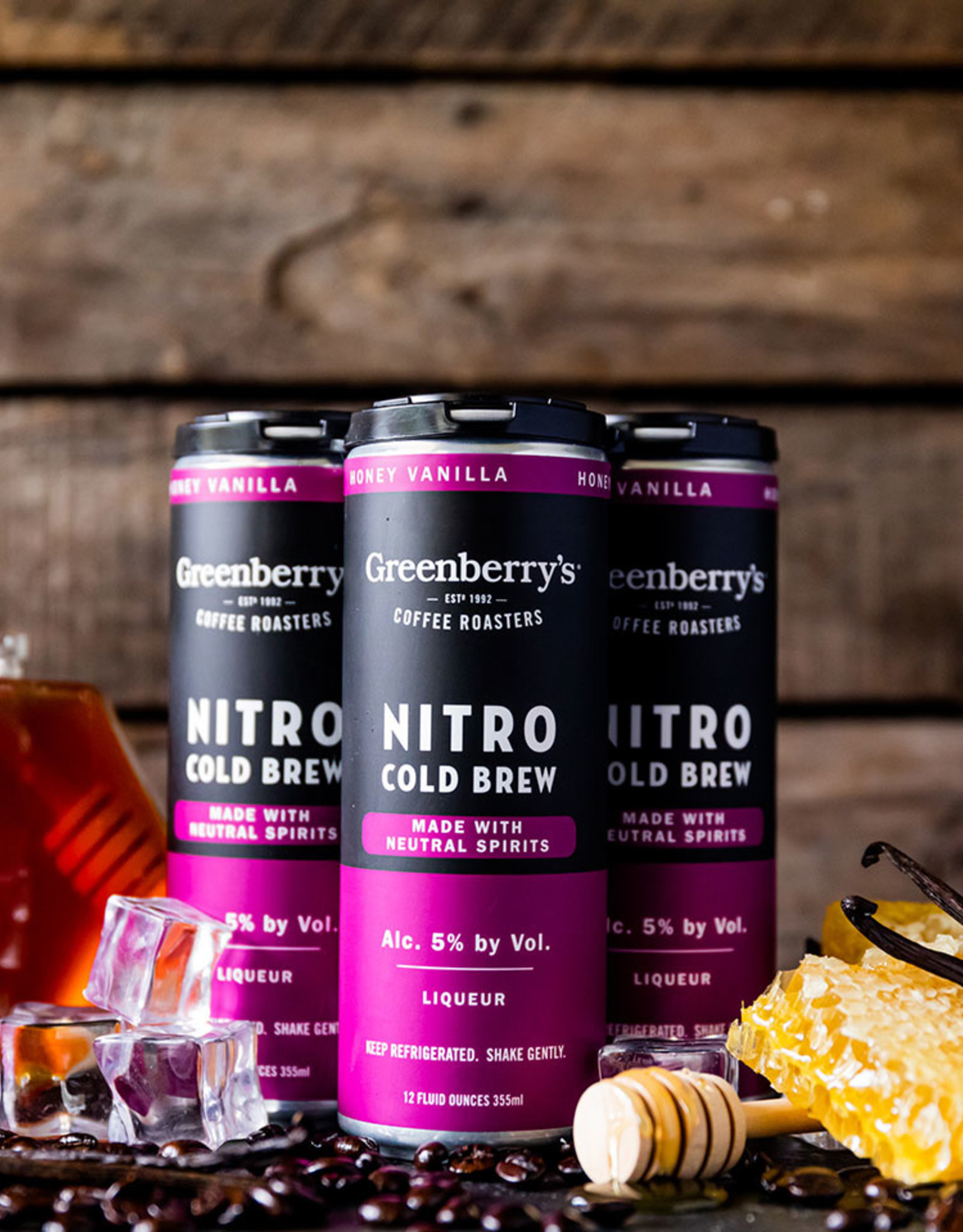 Greenberry's Honey Vanilla Bourbon Nitro Cold Brew 4/12