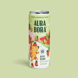 Aura Bora Basil Berry Sparkling Water 12oz