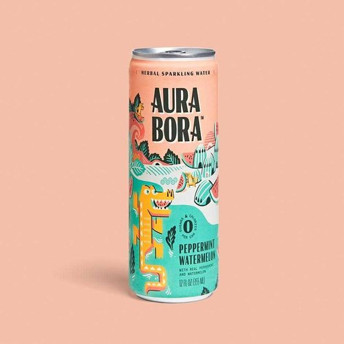 Aura Bora Aura Bora Peppermint Watermelon Sparkling Water 12oz